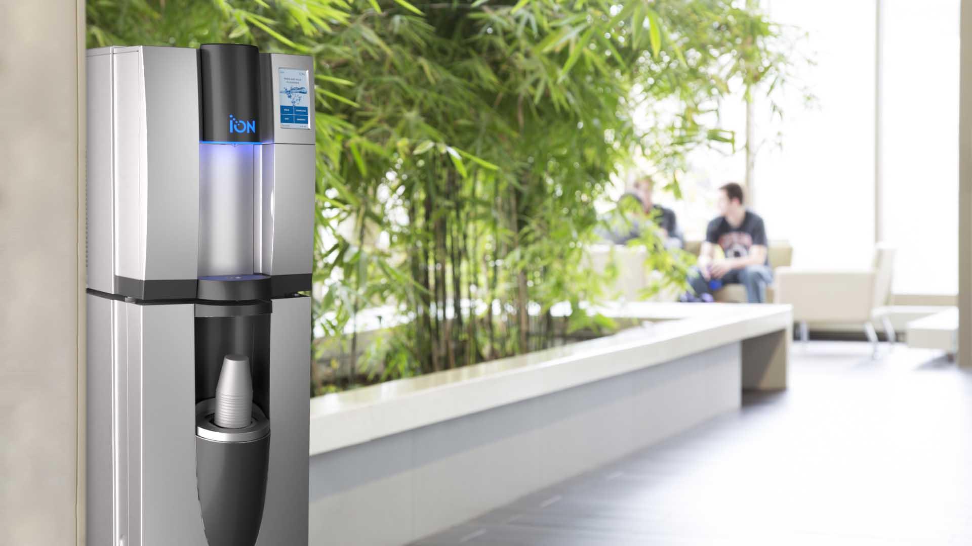 ion vanndispenser i kantine